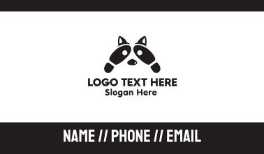 Raccoon Footsteps Business Card