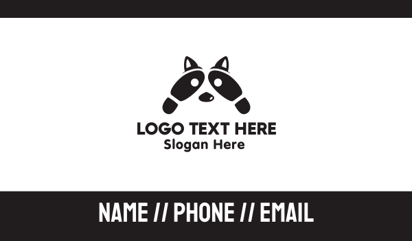 step - Raccoon Footsteps Business card horizontal design