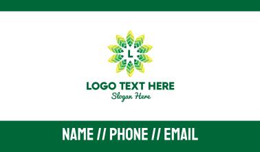 Tropic Leaves Lettermark Business Card