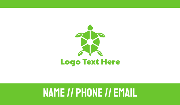 green turtle - Eco Turtle Business card horizontal design