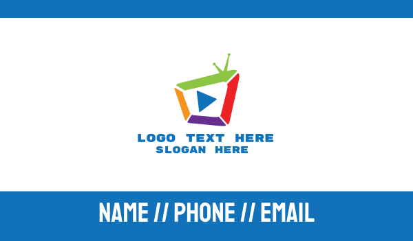 channel - Multicolor Media Television Business card horizontal design