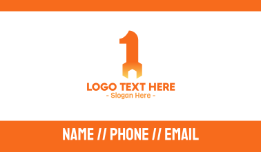 Orange Wrench Number 1 Business Card