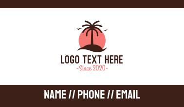 Coconut Tree Resort Business Card