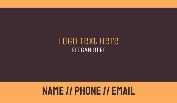 fudge - Brown Wordmark Text Business card horizontal design