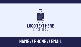 Travel Document File Manager Business Card