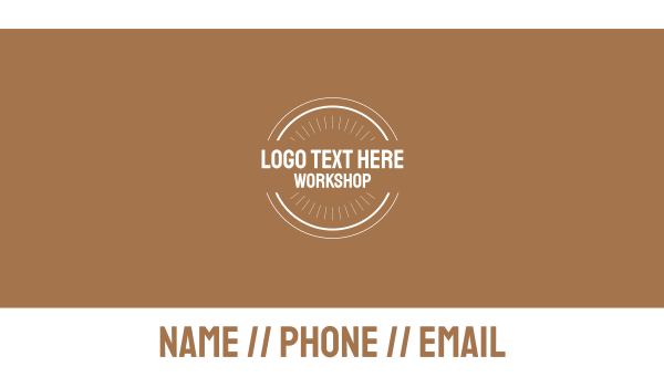 brown and white - Workshop Business card horizontal design