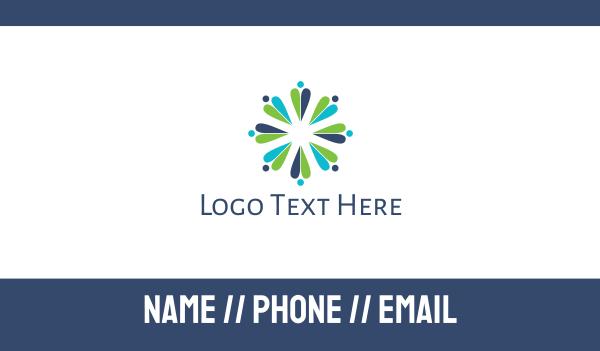 teamwork - Flower Crowd Business card horizontal design