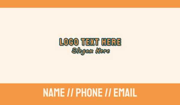 panel beater - Auto Mechanic Wordmark Business card horizontal design