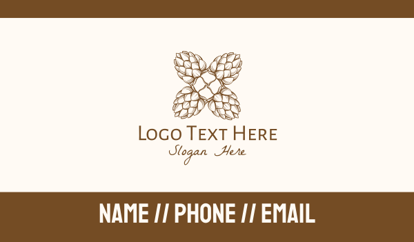 scent - Pine Nature Business card horizontal design