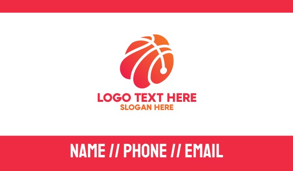 mvp - Abstract Basketball Shell Business card horizontal design
