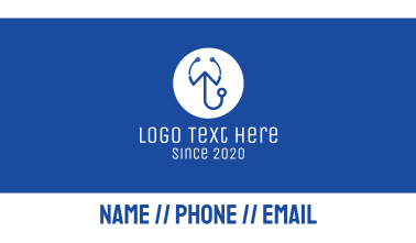 Medical Stethoscope Letter W Business Card