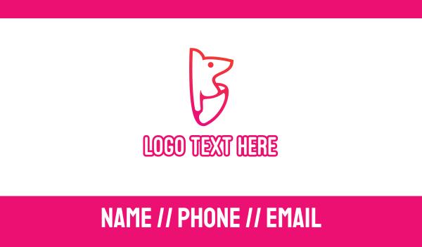 iconic - Joey Kangaroo Kids Business card horizontal design