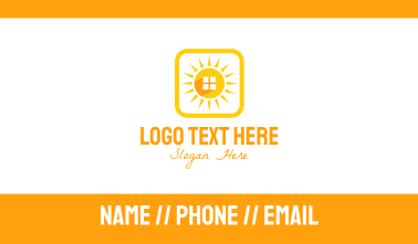 Sun Home Square Business Card