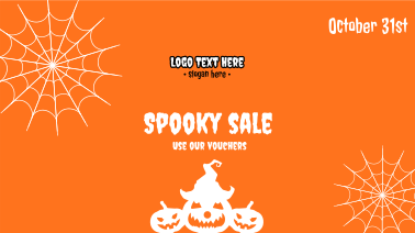 Halloween Spooky Sale  Facebook event cover