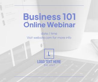 Business 101 Webinar Facebook post