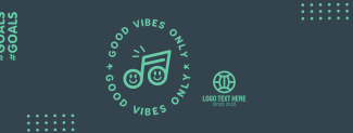 Good Vibes Happy Note Facebook cover