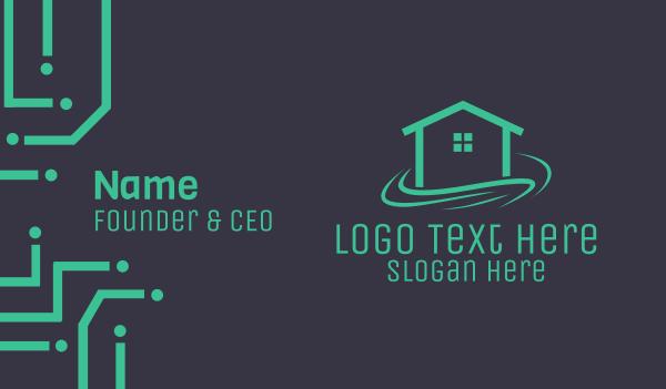 hospitality - Minimalist  Beach House Business card horizontal design
