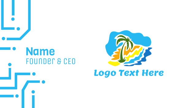 pinoy - Beach Palm Business card horizontal design