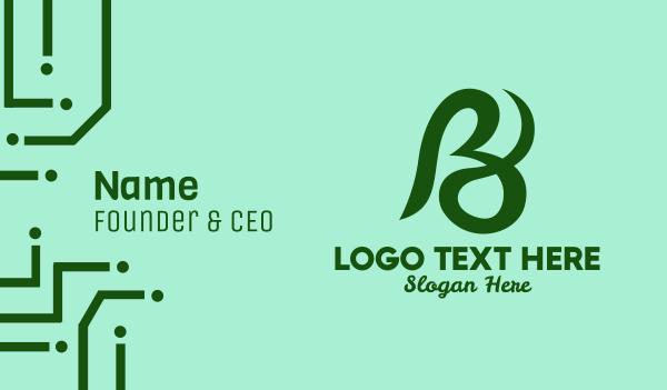 creative agency - Generic Cursive Letter B  Business card horizontal design