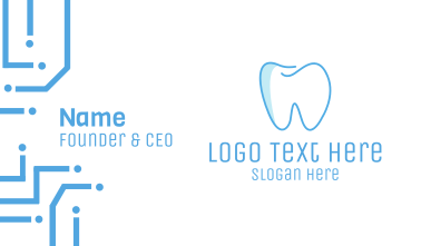Dental Blue Tooth Dentist Business Card
