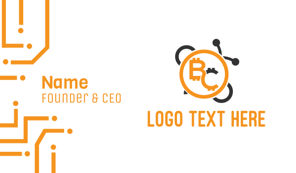 fx - Bee Coin Business card horizontal design