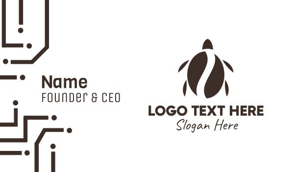 drinks - Turtle Coffee Business card horizontal design
