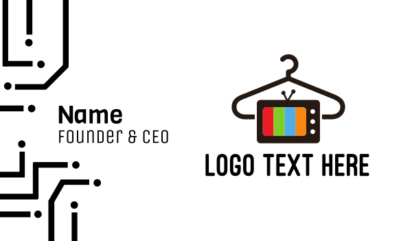 talk show - Laundry Media  Business card horizontal design