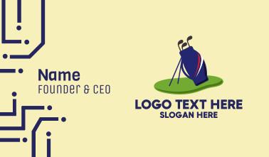 Golf Club Bag Equipment  Business Card