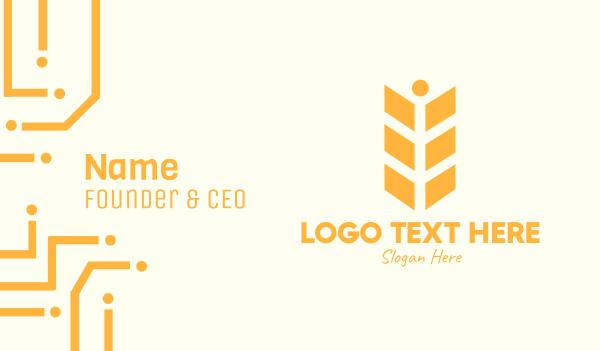 rye - Golden Wheat Grain Business card horizontal design