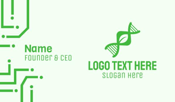 chemistry - Green DNA Leaf Business card horizontal design