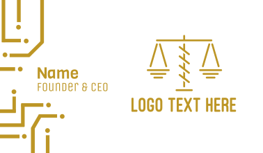 Minimalist Legal Lawyer Attorney Scales Business Card