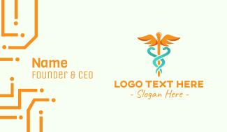 Medical Caduceus Symbol Business Card