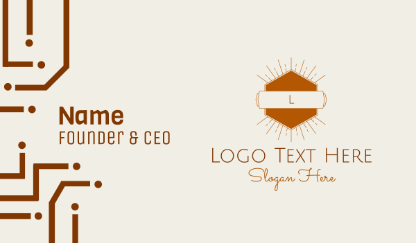 bohemian - Sunshine Hexagon Lettermark Business card horizontal design