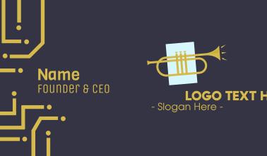 Golden Jazz Trumpet Business Card
