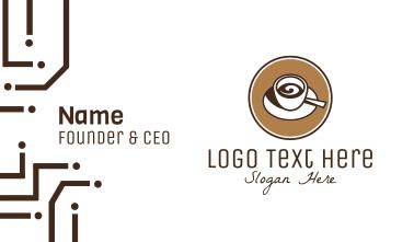 Espresso Coffee Cafe Business Card