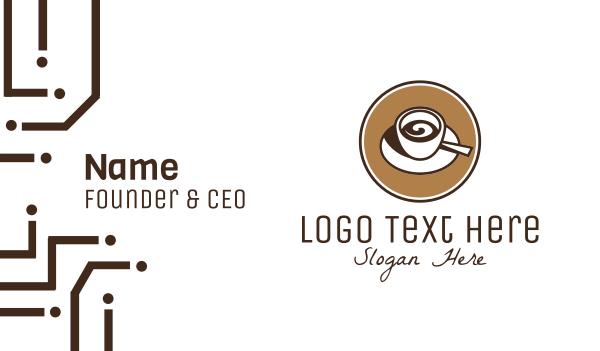whirl - Espresso Coffee Cafe Business card horizontal design