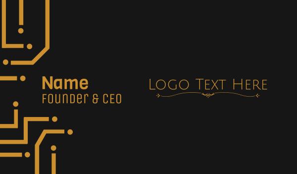 cemetery - Simple Ornamental Wordmark Business card horizontal design