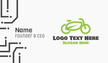 Green Eco Bike Business Card