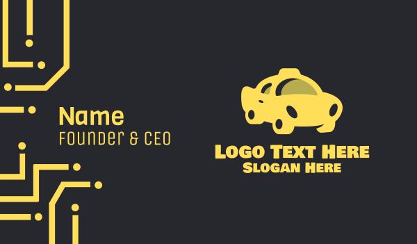 ny - Yellow Taxi Cab Business card horizontal design