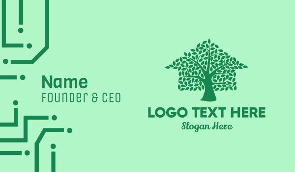 tree house - Eco Tree House Business card horizontal design