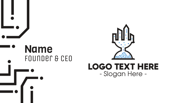 minute - Hourglass City Business card horizontal design