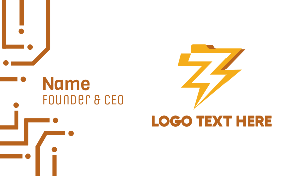 zip - Electric File Business card horizontal design