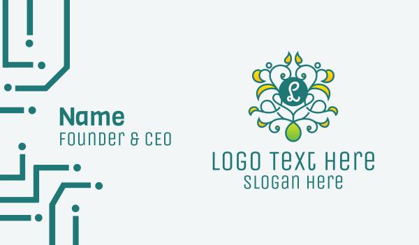 haircare - Ornament Vine Letter Business card horizontal design