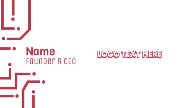 shadow - Minimalist White Wordmark Business card horizontal design