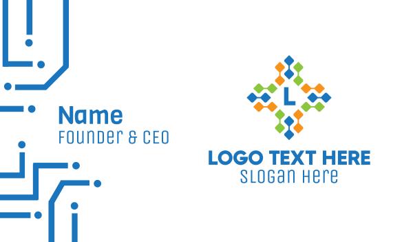 drugmaker - Digital Cross Lettermark Business card horizontal design
