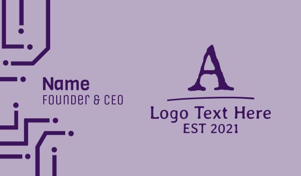 furniture - Old School Font Letter Business card horizontal design