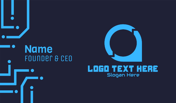 place - Tech Point Business card horizontal design