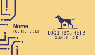Dog Kennel House Business Card