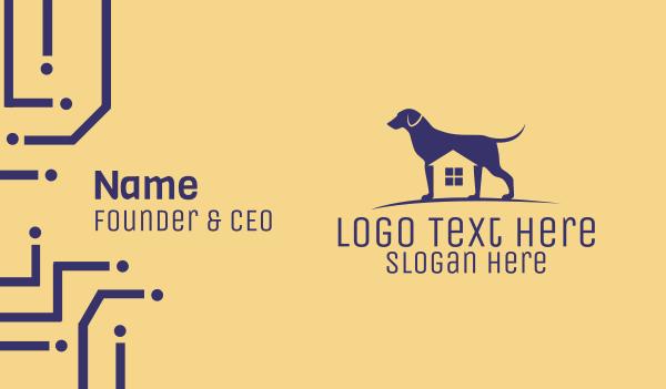 watchdog - Dog Kennel House Business card horizontal design