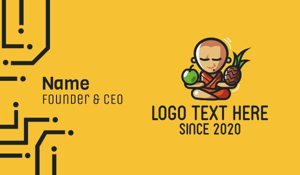 peace of mind - Fruit Monk Guru Business card horizontal design